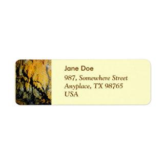 Lava tube cave label