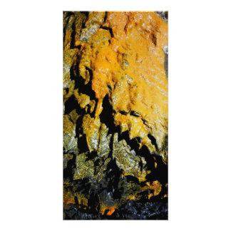 Lava tube cave photo card