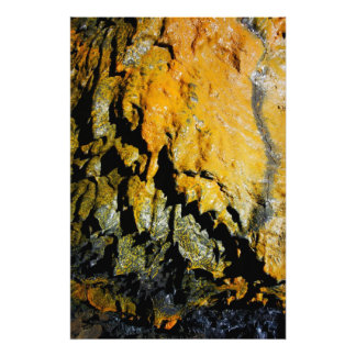 Lava tube cave photo print
