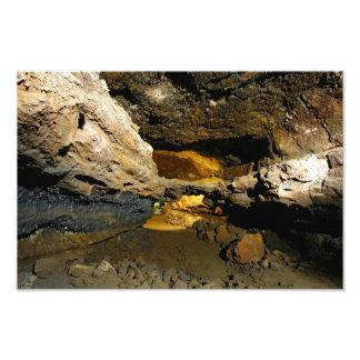 Lava tube cave photograph