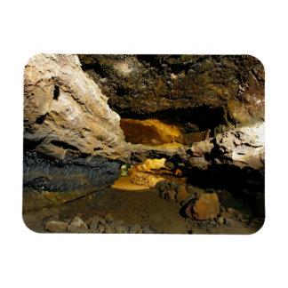 Lava tube cave rectangular magnet