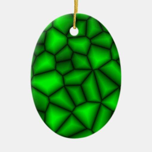 Lava verde adorno ovalado de cerámica