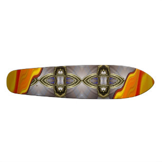 Lava Wave Silver Stone Skateboard