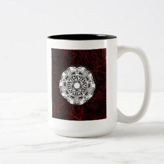 'Lava Wheel' Two-Tone Coffee Mug