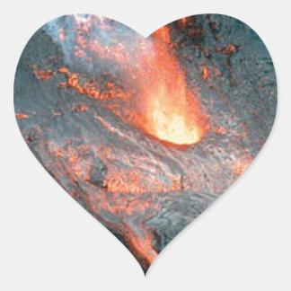 Lava why heart sticker