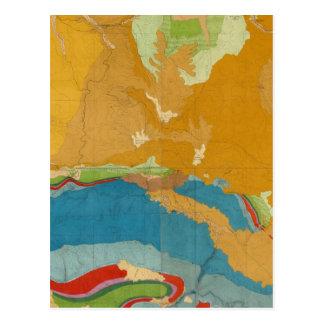 Lavabo de Green River geológico Tarjetas Postales