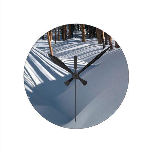 Lavabo de oro de Tesuque de la nieve de los árbole Reloj Redondo Mediano