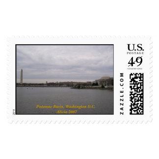 Lavabo de Potomac, C.C. de Washington Sello Postal