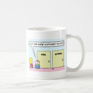 lavabo del cuarto de baño de los niños de las muje taza