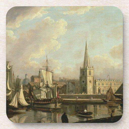 Lavabo del muelle de George, Liverpool, 1797 (acei Posavaso