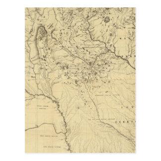 Lavabo hidrográfico del río Misisipi Postal