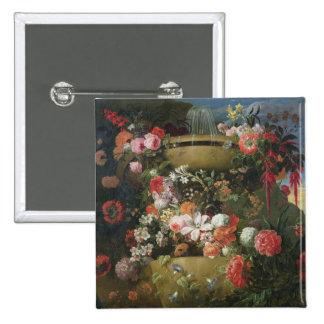 Lavabo y flores pin cuadrada 5 cm
