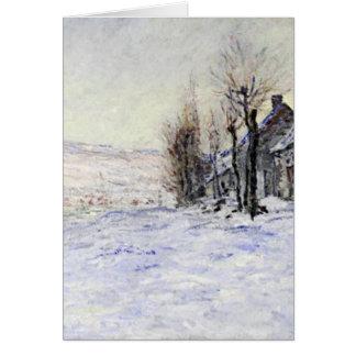 Lavacourt debajo de la nieve tarjeta