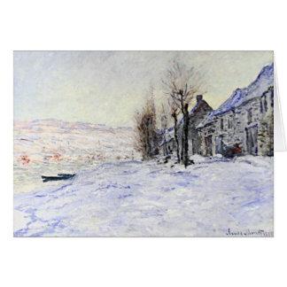 Lavacourt debajo de la nieve tarjetas