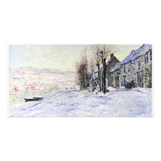 Lavacourt debajo de tarjetas de la foto de la niev tarjeta personal con foto