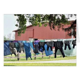 Lavadero de Amish Tarjeta De Felicitación