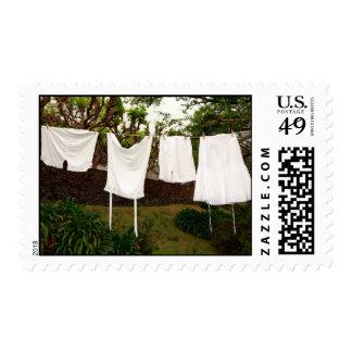 Lavadero de la ropa interior del vintage sellos postales