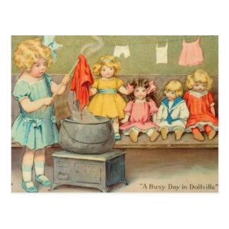 Lavadero del carro tarjetas postales