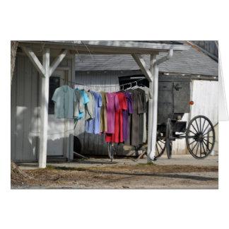 Lavadero del invierno de Amish Tarjeta De Felicitación