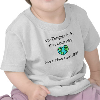 Lavadero del pañal camisetas