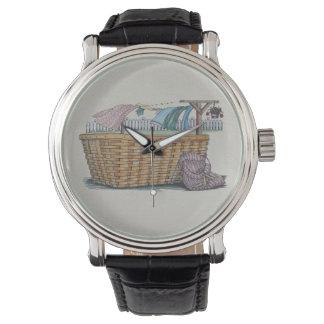 Lavadero en cuerda para tender la ropa relojes de pulsera
