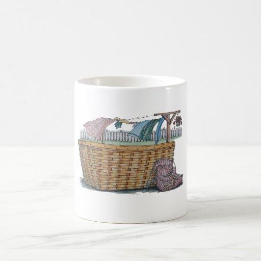 Lavadero en cuerda para tender la ropa taza básica blanca