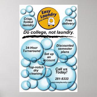 Lavadero fácil póster