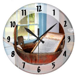 Lavadero Reloj Redondo Grande