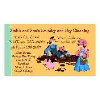 Lavadero y limpieza en seco tarjetas de visita