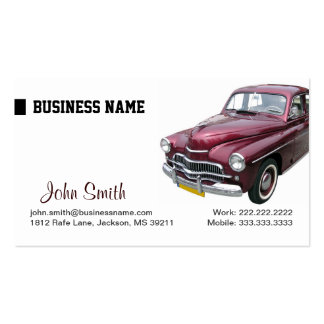 Lavado auto y tarjeta de visita de detalle