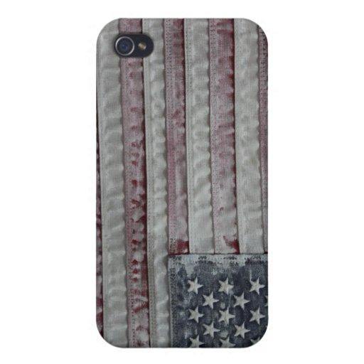 Lavado blanco de los E.E.U.U. de América iPhone 4/4S Funda
