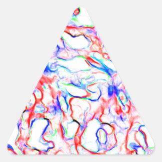 Lavado de color pegatina triangular