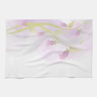 Lavado de la acuarela pálido - rosa toallas de mano