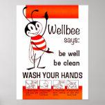LAVADO de la CDC de Wellbee SU poster del anuncio
