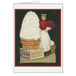 Lavado de la mujer del anuncio del jabón de Lenox  Tarjeta De Felicitación