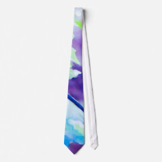 Lavado del color - azul, púrpura, aguamarina corbata personalizada