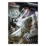 Lavado del dinero tarjeta de felicitación