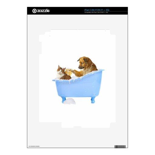 Lavado del gato skin para el iPad 2