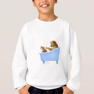 Lavado del gato sudadera
