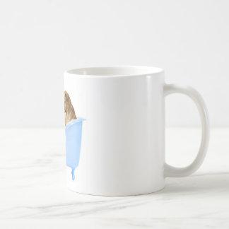 Lavado del gato taza de café