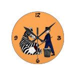 Lavado divertido animal del vintage del parque zoo reloj
