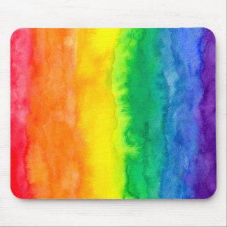 Lavado Mousepad del arco iris Tapetes De Raton