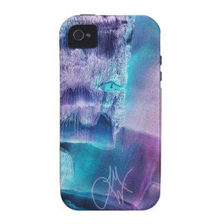 Lavado violeta azul iPhone 4 carcasas