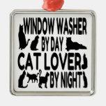 Lavadora de ventana del amante del gato ornato