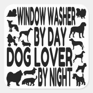 Lavadora de ventana del amante del perro pegatina cuadradas personalizada