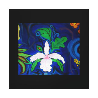 LavaLava Orchid w/border Wrapped Canvas
