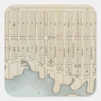Lavallette City by the Sea, Squan Beach, NJ Square Sticker