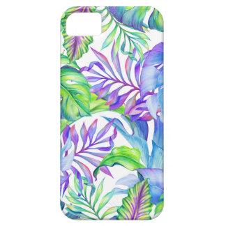 Lavanda azulverde del follaje del rosa tropical funda para iPhone SE/5/5s