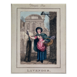 Lavanda, barra del templo, de 'gritos de London Póster