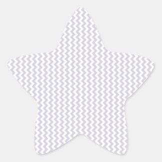 Lavanda blanca y lánguida del zigzag - pegatina en forma de estrella